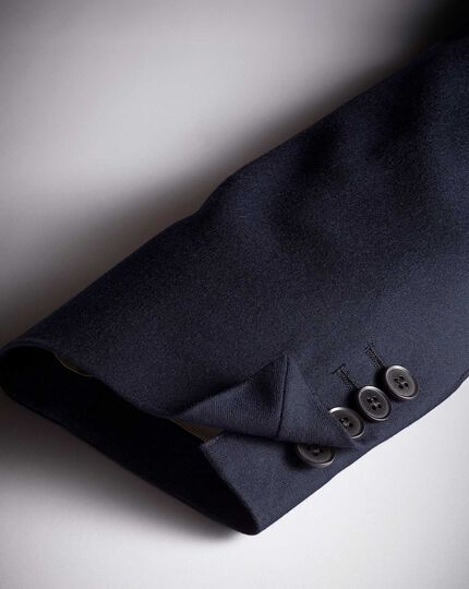 Navy classic fit British serge luxury suit jacket
