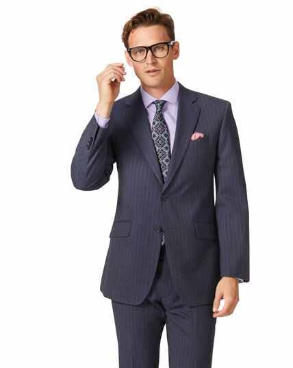 Airforce stripe classic fit Panama business suit jacket