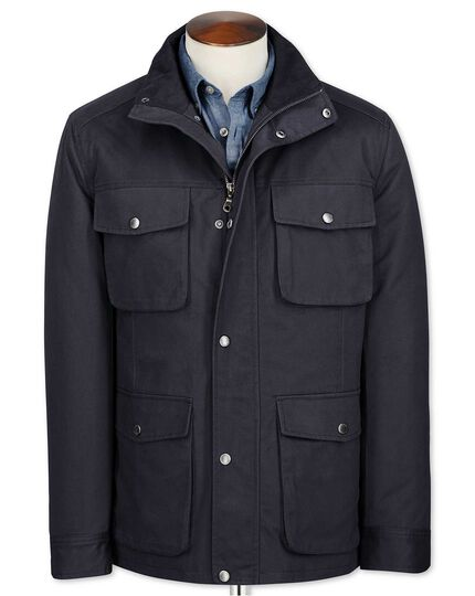 Navy cotton field coat