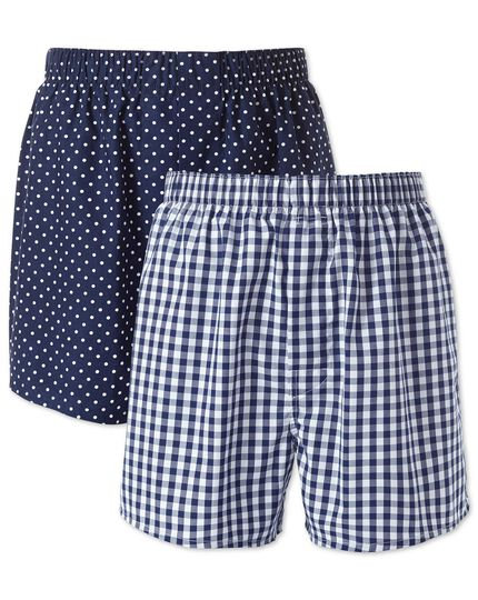 Navy 2 pack boxers