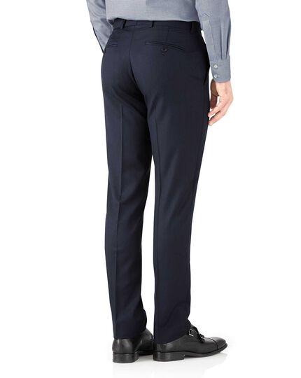 Navy herringbone slim fit Italian suit trousers