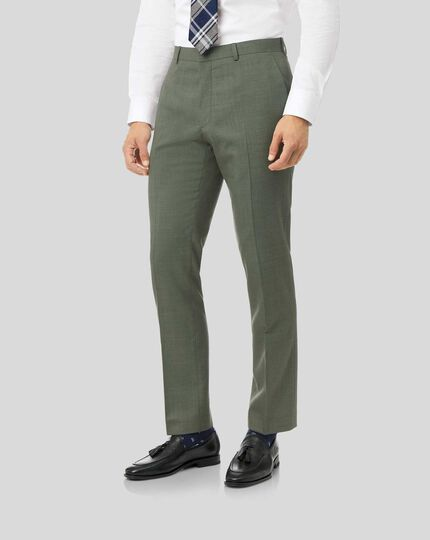 Merino Suit Pants - Green