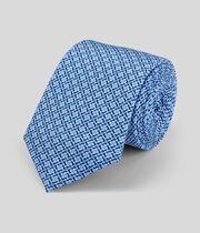 Schmale Krawatte aus Seide mit geometrischem Print - Himmelblau