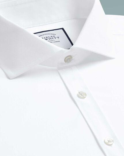 Bügelfreies Super Slim Fit Hemd mit 4-Way-Stretch in Weiß