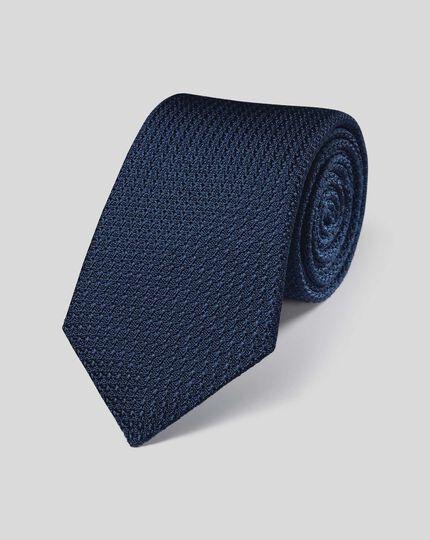 Italienische Luxuskrawatte aus Grenadine-Seide - Marineblau