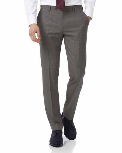 Grey slim jaspe business suit trousers