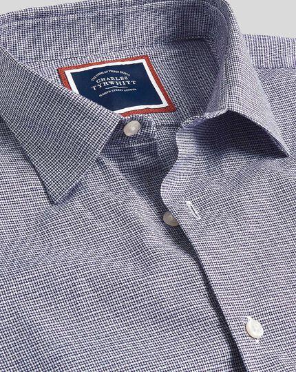 Chemise à motif quadrillé et col classique - Bleu