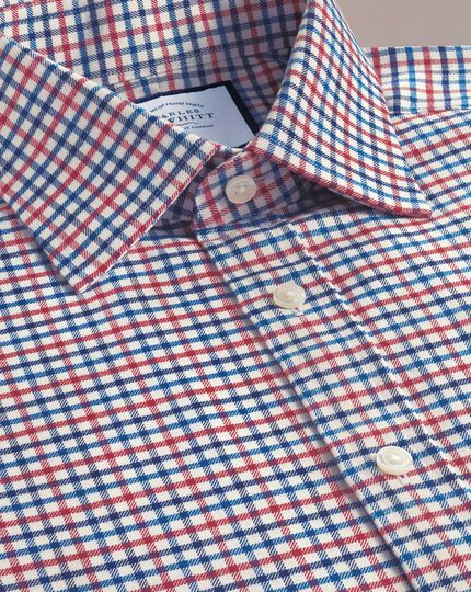 Classic fit red and blue country check shirt