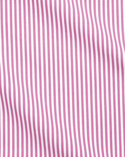 Chemise rose extra slim fit à rayures Bengale