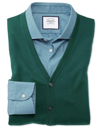 Dark green merino vests