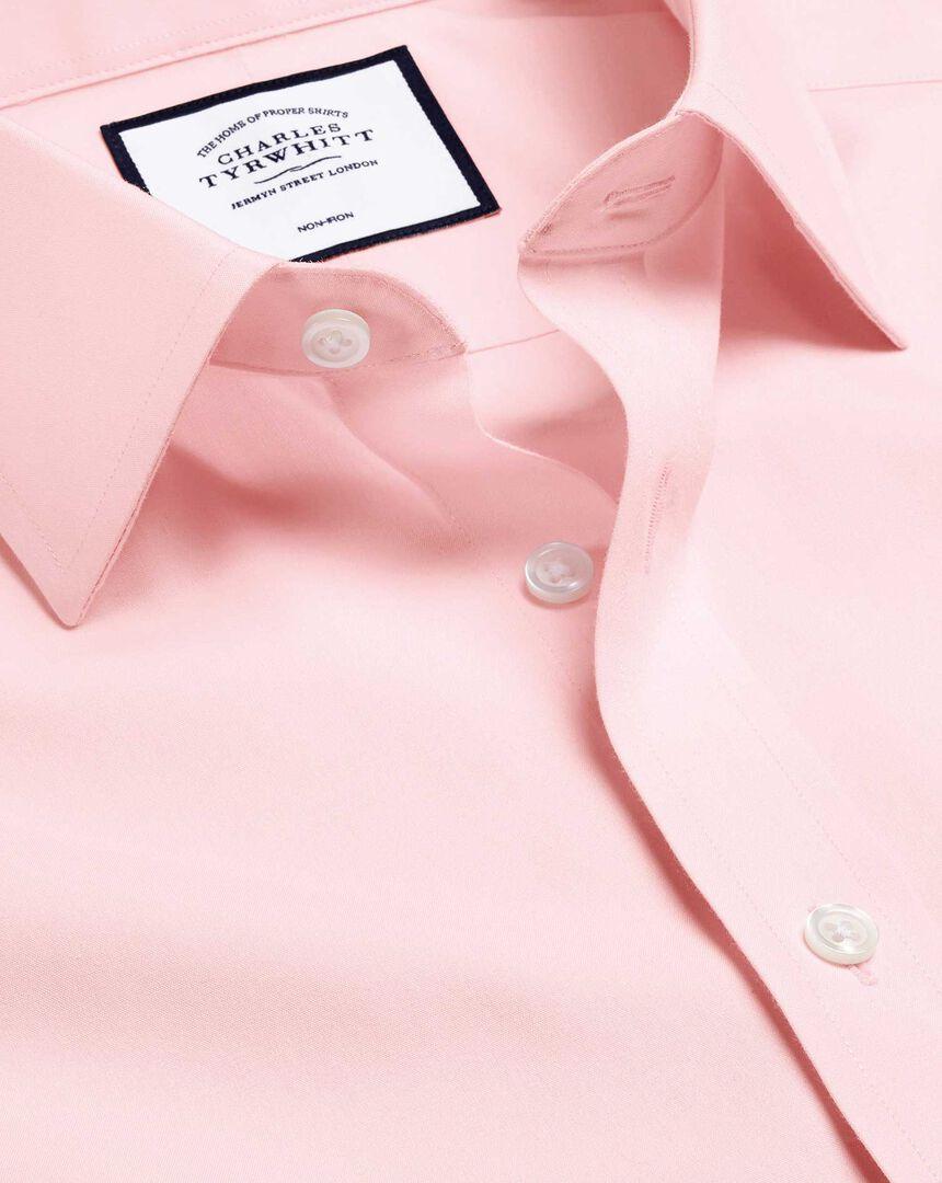 Bügelfreies Popeline-Hemd - Rosa