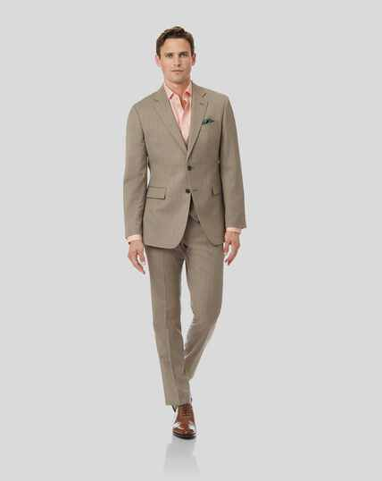 Herringbone Suit - Fawn