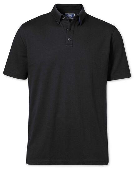 Polo noir en jersey