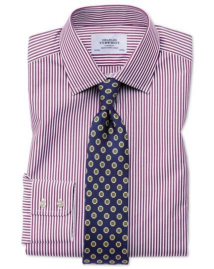 Chemise violette à rayures Bengale et coupe droite
