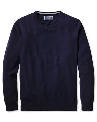 Pullover aus Kaschmir mit Rundhalsausschnitt in Marineblau