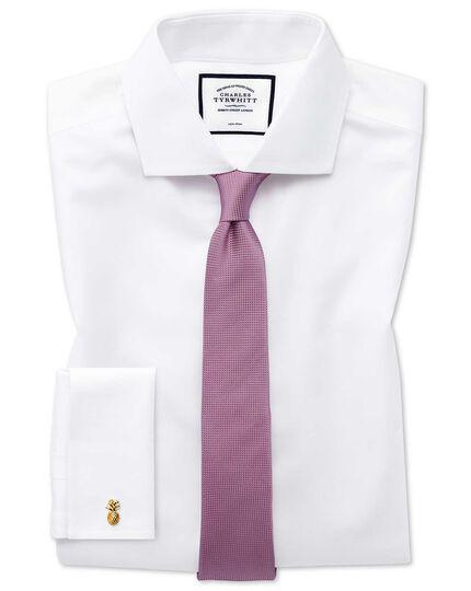 Pink mini pindot slim tie