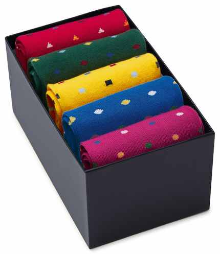 Multi triangle sock gift box