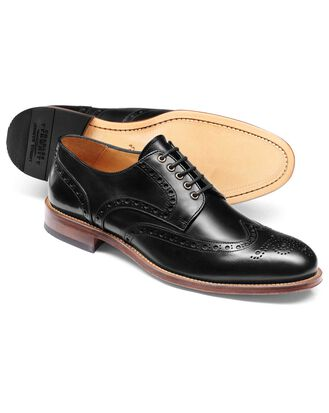 Black eyelet Derby brogue shoe