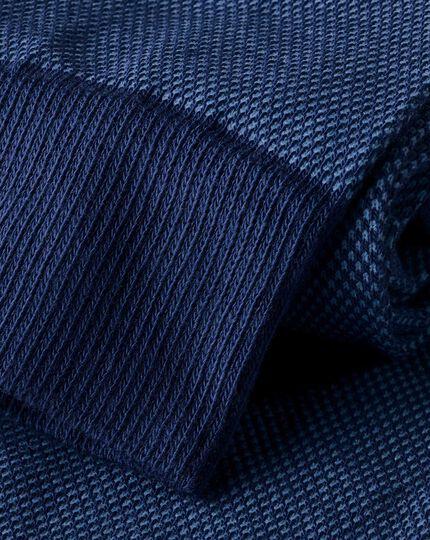 Jacquard-Socken - Himmelblau & Marineblau