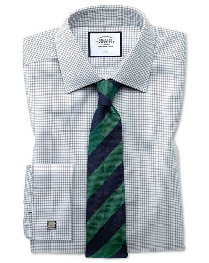 Green and blue club stripe silk classic tie