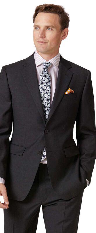 Veste de costume business anthracite en twill slim fit
