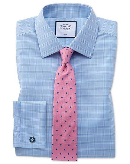 Cravate classique rose et bleue en soie à pois