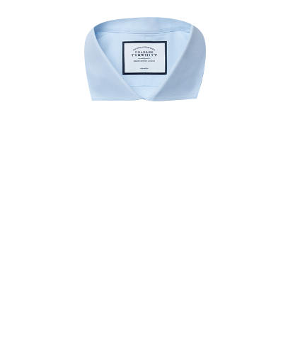 Super slim fit cutaway non-iron poplin sky blue shirt