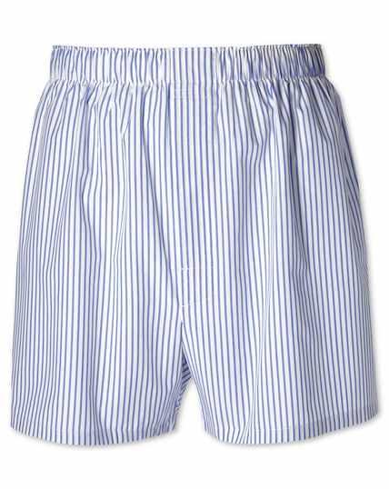 Sky blue stripe woven boxers