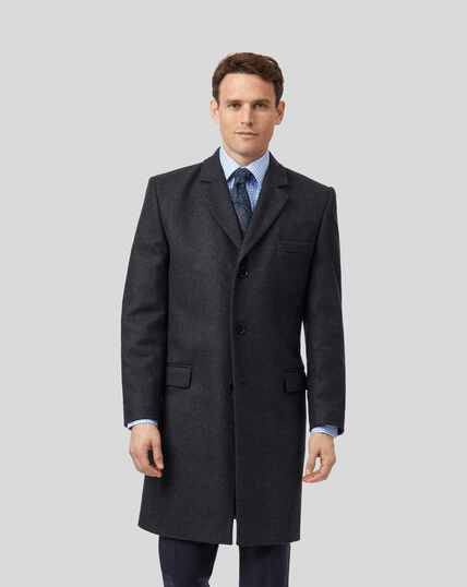 Mantel aus italienischem Wolle-Kaschmir-Mix - Anthrazit
