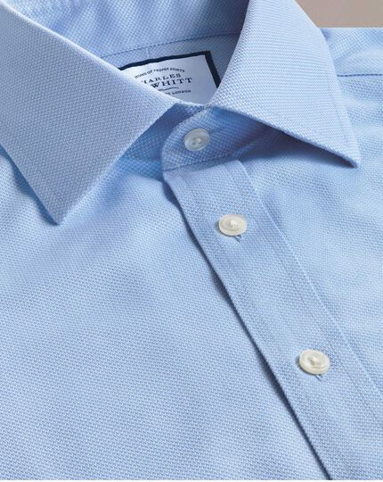 Bügelfreies Slim Fit Arrowweave-Hemd in Himmelblau