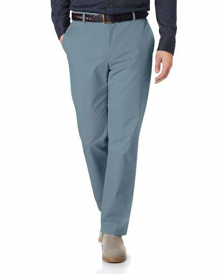 Sky blue classic fit stretch chinos