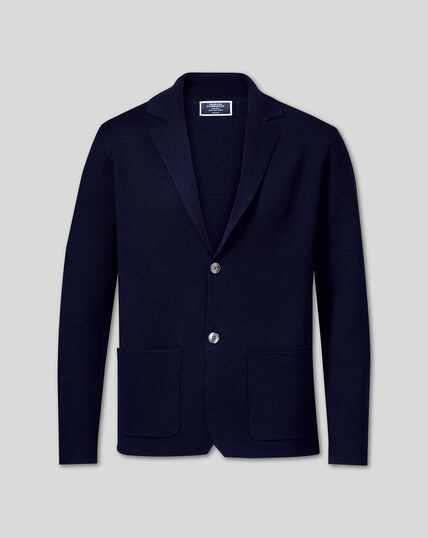 Merino-Blazer - Marineblau