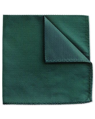 Mid green classic plain pocket square