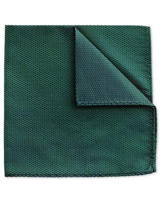 Mid green classic plain pocket square