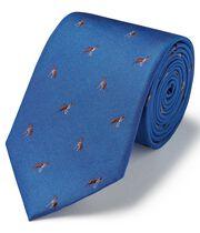 Royal silk motif jacquard French bulldog classic tie