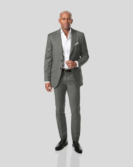 Italian Pindot Suit Jacket - Grey