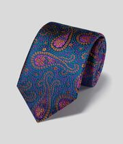 Silk Paisley English Luxury Tie - Multi