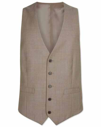Fawn adjustable fit twill business suit vests