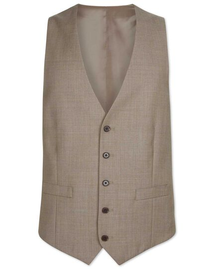 Fawn adjustable fit twill business suit vest