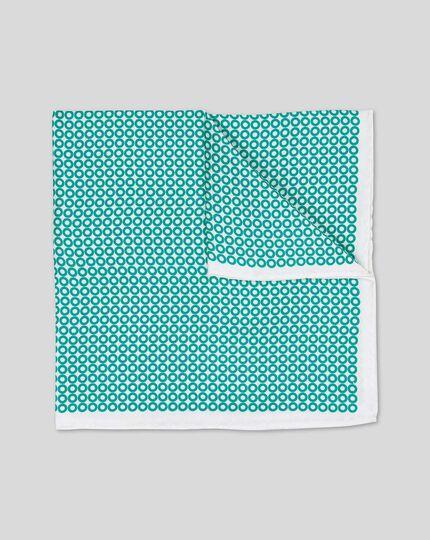 Pochette de costume avec imprimé cerceaux - Turquoise