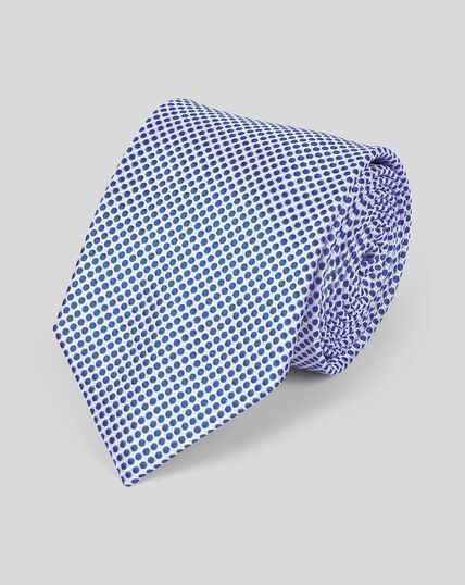 Klassische Krawatte aus Seide mit Punkten - Königsblau