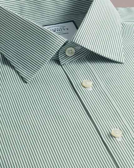 Non-Iron Bengal Stripe Shirt - Olive