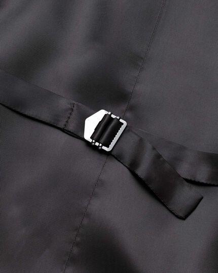 Brown slim fit birdseye travel suit waistcoat