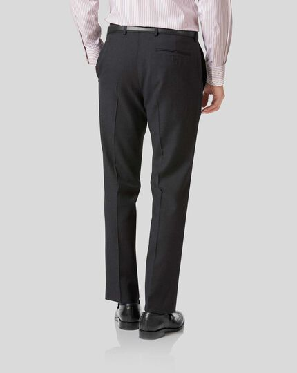 Twill Business Suit Trousers - Charcoal