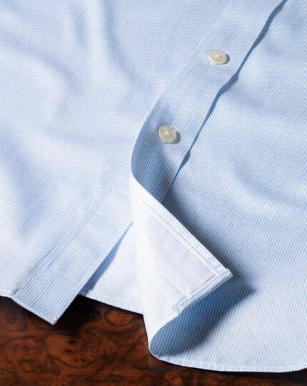 Extra slim fit cutaway collar non-iron mouline stripe sky blue shirt