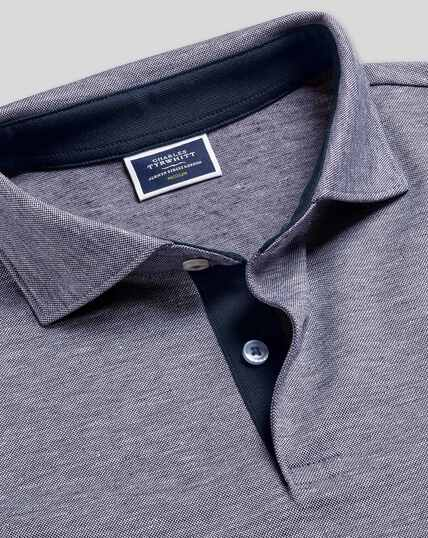 Cotton Hemp Polo - Blue