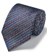 Multi dash geometric luxury English tie