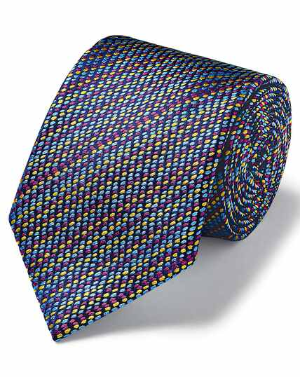 Multi dash luxury English geometric tie