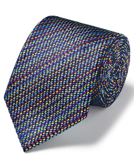 Multi dash luxury English geometric tie