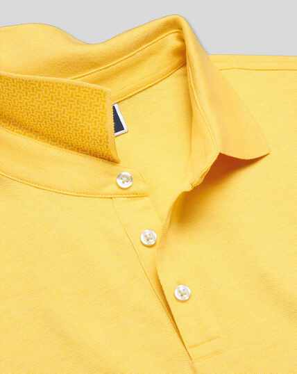 Tyrwhitt Pique Polo - Light Yellow Marl